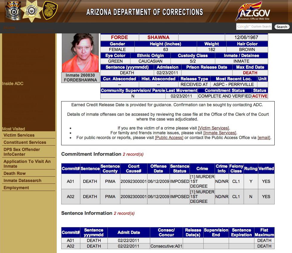 Death row dating website